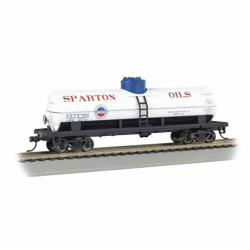 Bachmann BAC48103 O Williams 1-Dome Tank Car Sparton Oil Model Train Perspective: front