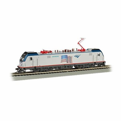 Bachmann BAC67404 No.642 Amtrak Locomotive Model Train with Sound Value Flag Demo Perspective: front
