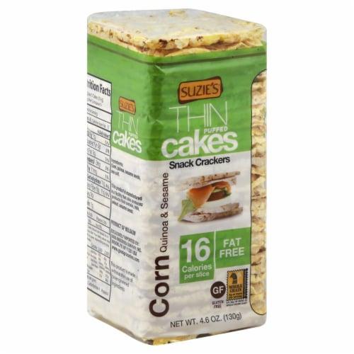 Suzie's Thin Corn Quinoa & Sesame Cakes Perspective: front