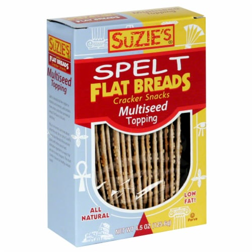 Suzie's Spelt MultiSeed Topping Flat Breads Perspective: front