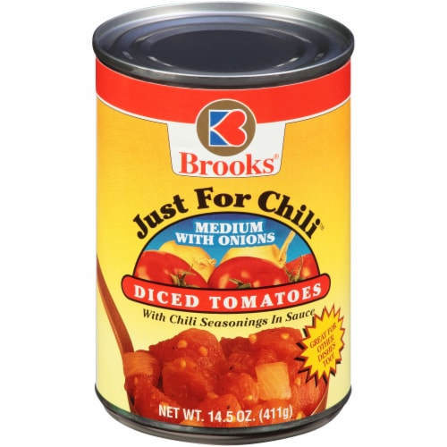 Brooks Just for Chili Medium Diced Tomatoes Perspective: front