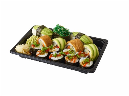 Advanced Fresh Concepts Vegetarian Sushi Combo Box Perspective: front