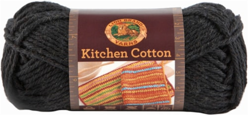 Lion Brand Kitchen Cotton Yarn Licorice Perspective Front