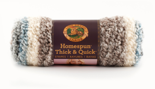 Lion Brand Homespun Thick & Quick Granite Stripes Perspective: front