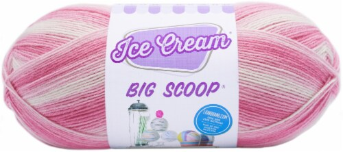 Lion Brand Ice Cream Big Scoop Yarn-Strawberry Perspective: front