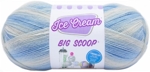 Lion Brand Ice Cream Big Scoop Yarn-Blueberry Perspective: front