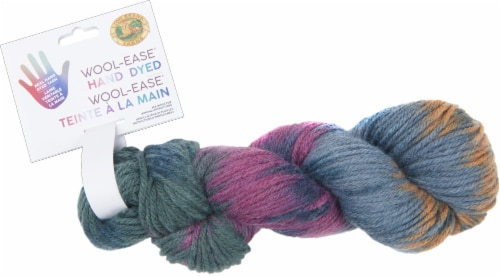 Lion Brand Wool-Ease Hand Dyed Yarn-Milky Way Perspective: front