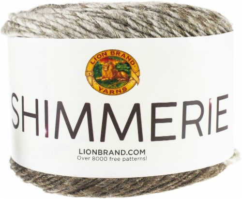 Lion Brand Shimmerie Yarn-Milky Way Perspective: front