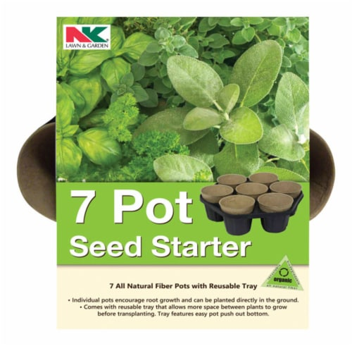 NK Lawn & Garden Seed Starter Tray 7 pk - Case Of: 1; Each Pack Qty: 7; Total Items Qty: 7 Perspective: front