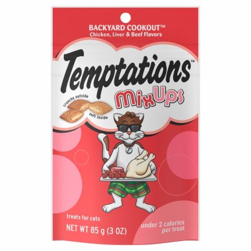Temptations MixUps Backyard Cookout Flavor Cat Treats Perspective: front