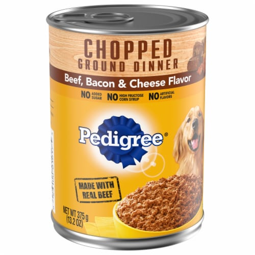 Pedigree Chopped Ground Dinner Beef Bacon & Cheese Flavor Wet Dog Food Perspective: front