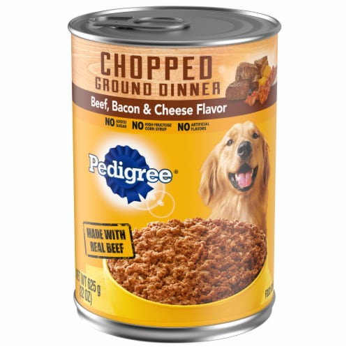 Pedigree Chunky Ground Dinner Beef Bacon & Cheese Flavor Wet Dog Food Perspective: front