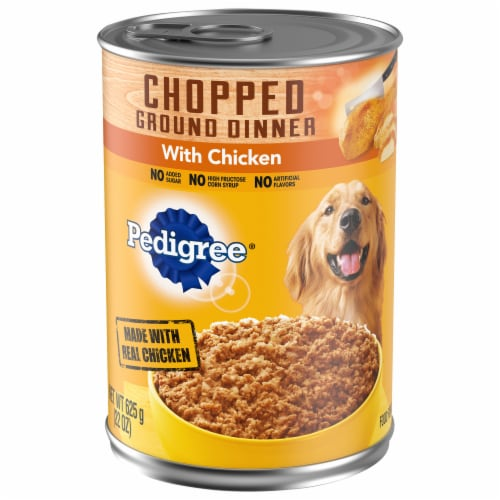 Pedigree Chopped Ground Dinner with Chicken Wet Dog Food Perspective: front