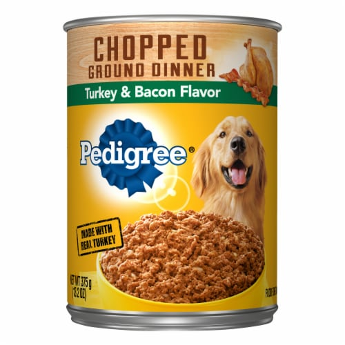 Pedigree Chopped Ground Dinner with Turkey & Bacon Flavor Wet Dog Food Perspective: front
