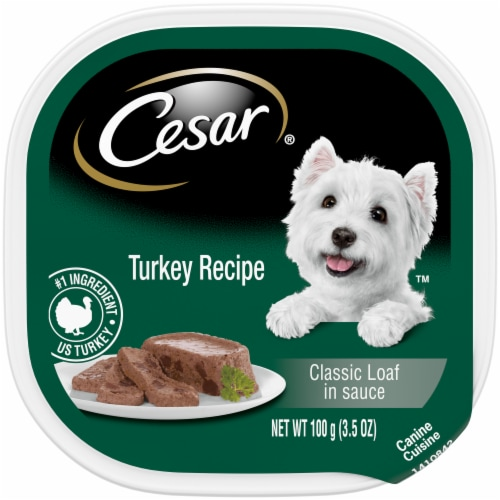 Cesar Classics Turkey Wet Dog Food Perspective: front