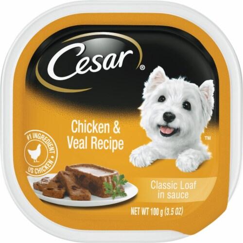 Cesar Classic Loaf Chicken & Veal Adult Wet Dog Food, 3.5 Oz. 798323 Perspective: front