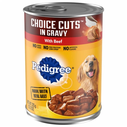 Pedigree Choice Cuts in Gravy Beef Wet Dog Food Perspective: front