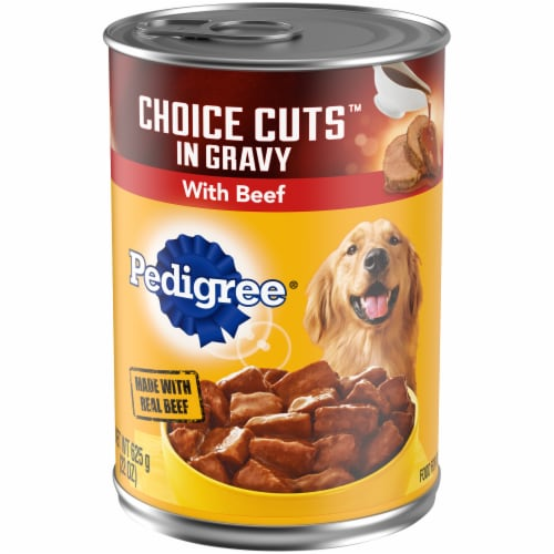 Pedigree Choice Cuts in Gravy with Beef Wet Dog Food Perspective: front