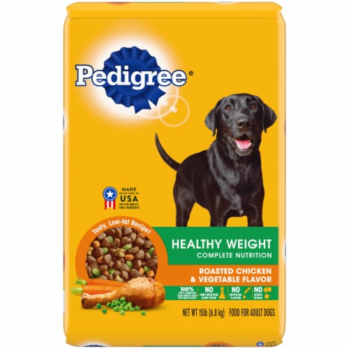 Pedigree Healthy Weight Complete Nutrition Roasted Chicken Rice & Vegetable Flavor Dog Food Perspective: front