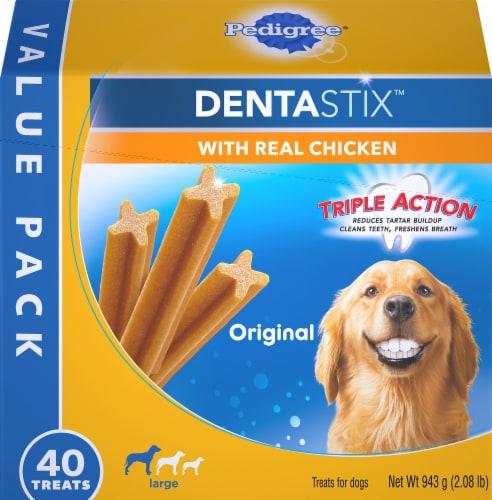 Pedigree Dentastix Triple Action Original Large Breed Dog Treats Perspective: front