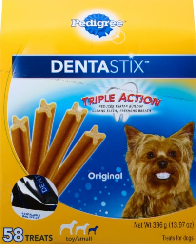 Pedigree Dentastix Triple Action Original Toy/Small Dog Treats Perspective: front