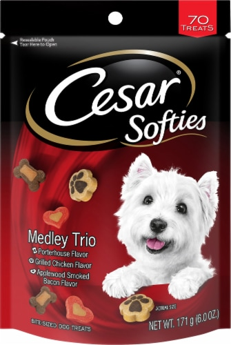 Cesar Softies Medley Trio Dog Treats Perspective: front