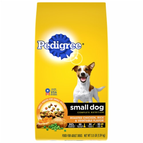 Pedigree Complete Nutrition Roasted Chicken Rice & Vegetable Small Dog Dry Dog Food Perspective: front
