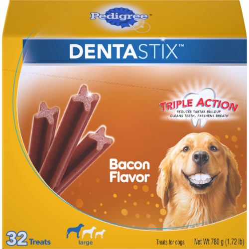 Pedigree Dentastix Triple Action Bacon Flavor Large Dog Treats Perspective: front