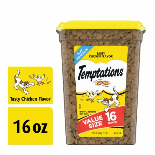 Temptations Tasty Chicken Flavor Cat Treats Perspective: front