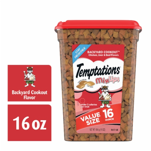 Temptations MixUps Backyard Cookout Flavor Cat Treats Value Size Perspective: front