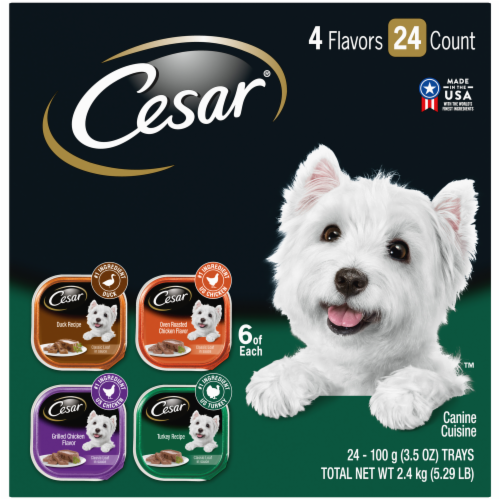 Cesar Classics Poultry Wet Dog Food Variety Pack Perspective: front