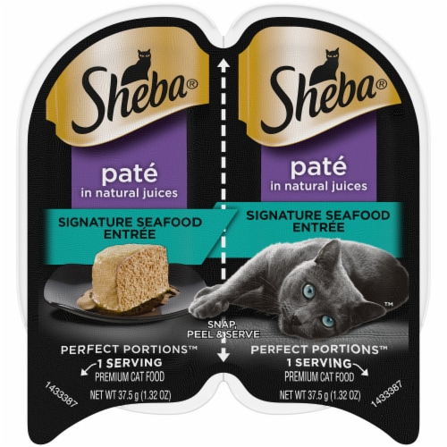 Sheba Perfect Portions Signature Seafood Entree Pate Wet Cat Food Perspective: front