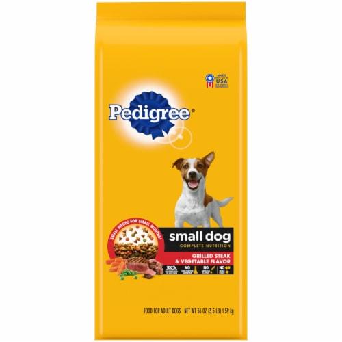 Pedigree Small Dog Grilled Steak & Vegetable Flavor Adult Dry Dog Food Perspective: front