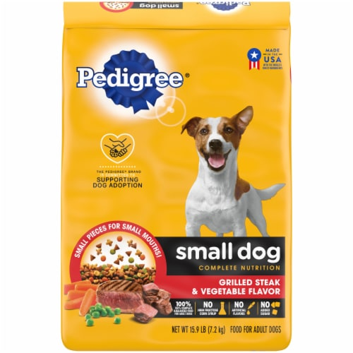Pedigree Small Dog Complete Nutrition Grilled Steak & Vegetable Flavor Adult Dry Dog Food Perspective: front