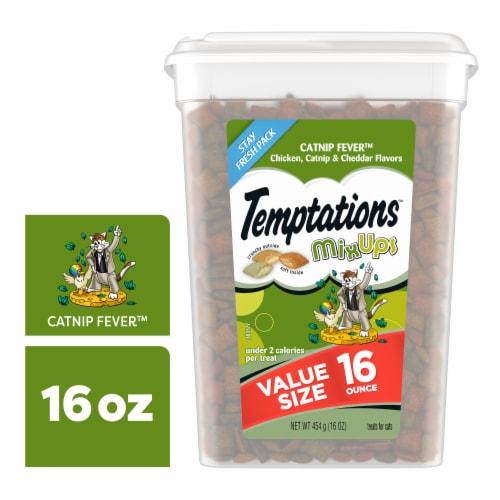 Temptations MixUps Catnip Fever Flavor Cat Treats Perspective: front