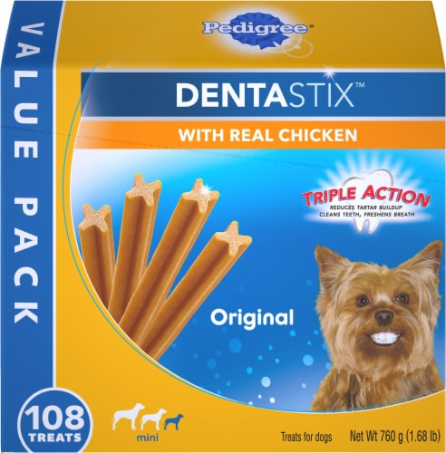 Pedigree Dentastix Triple Action Original Toy/Small Dog Treats 108 Count Perspective: front