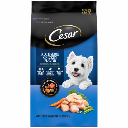 Cesar Rotisserie Chicken Flavor Small Breed Dry Dog Food Perspective: front