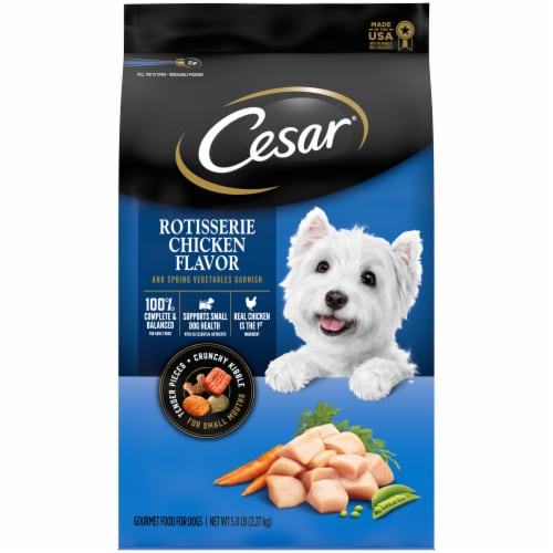 Cesar Rotisserie Chicken Flavor Dry Dog Food Perspective: front