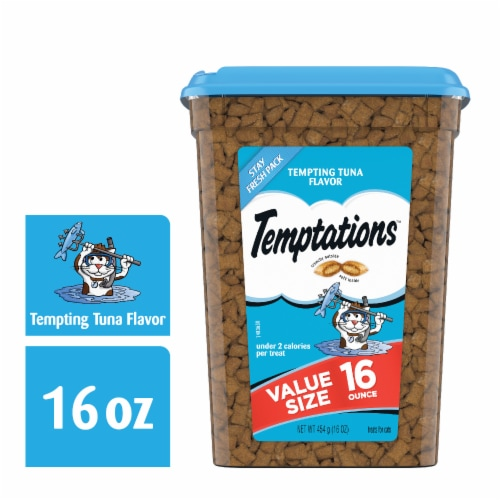 Temptations Tempting Tuna Flavor Treats Stay Fresh Pack Perspective: front