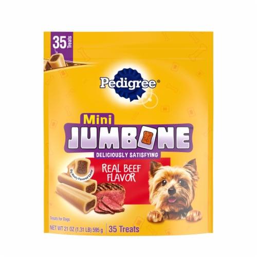 Pedigree Mini Jumbone Real Beef Flavor Dog Treats Perspective: front