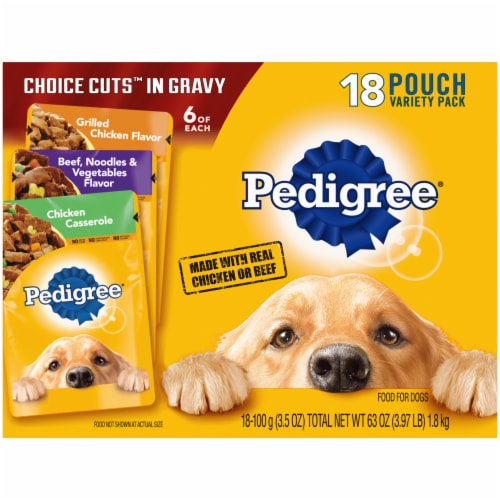 Pedigree Choice Cuts in Gravy Wet Dog Food Variety Pack Perspective: front