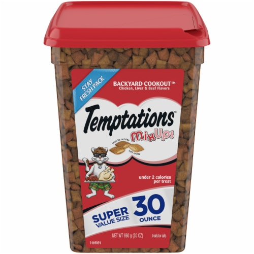 Temptations Backyard Cookout MixUps Cat Treats Perspective: front