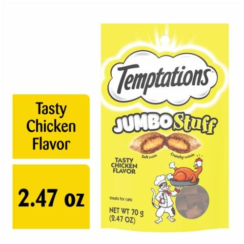 Temptations Jumbo Stuff Tasty Chicken Flavor Cat Treats Pouch Perspective: front
