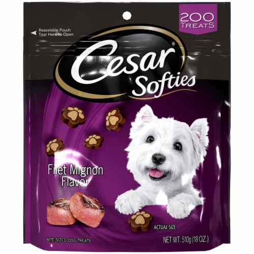 Cesar Softies Filet Mignon Flavor Dog Treats Perspective: front