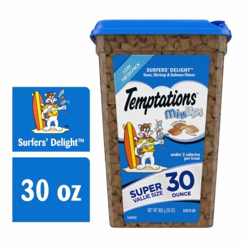 Temptations Surfers' Delight Flavor Cat Treats Perspective: front