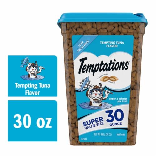 Temptations Tempting Tuna Flavor Cat Treats Perspective: front