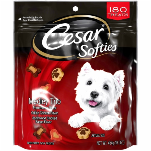 Cesar Softies Medley Trio Bite-Sized Dog Treats Perspective: front