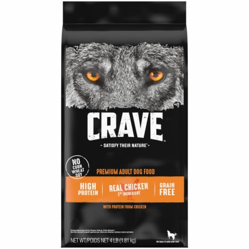 Crave Real Chicken Grain Free Adult Dry Dog Food Perspective: front