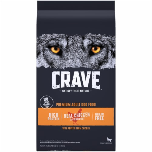 Crave with Protein From Chicken Grain Free Adult Dog Food Perspective: front