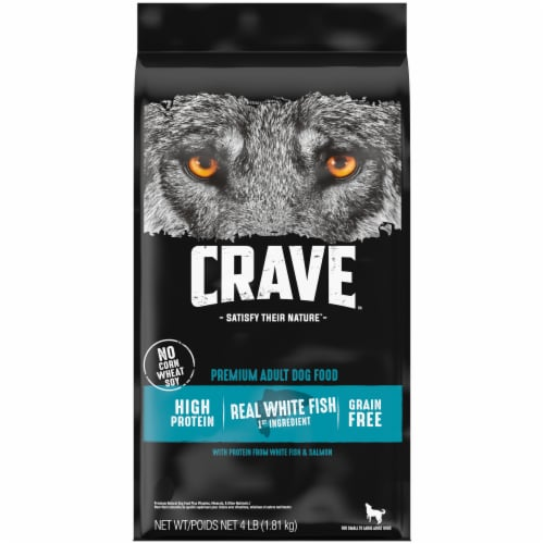 Crave Real Salmon Grain Free Adult Dry Dog Food Perspective: front